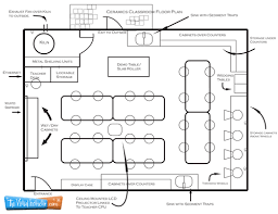 Design A Floor Plan Template Ceramics Classroom Floor Plan