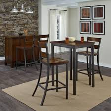 Pub Dining Room Set by Cabin Creek 3 Piece Hammered Metal Bar Table Set 5411 359 The