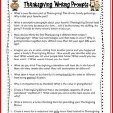 thanksgiving writing activities 5th grade project edu