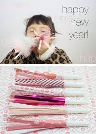 new years party blowers ruffles and stuff happy new year diy party blowers