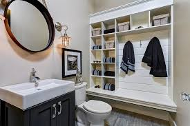 Bathroom Storage Baskets by Bathroom Built In Shelves Bathroom Traditional With Chrome Faucet