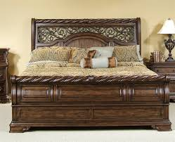 Sleigh Bed Bedroom Set Arbor Place Sleigh Bed 6 Piece Bedroom Set In Brownstone Finish By