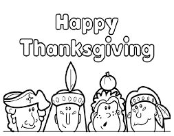 happy thanksgiving coloring pages for