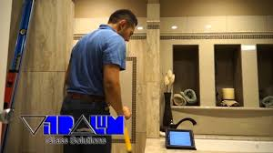 Agalite Shower Doors by Vitralum Glass Solutions How To Measure Frameless Shower