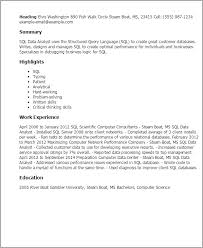 Resume Examples Server by Sql Resume 21 Sql Resumes Dba Sample Server All File Uxhandy Com