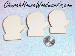 wooden mitten christmas ornaments set of 25 for sale church