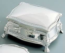 personalized jewelry box personalized antique silver shiny jewelry box