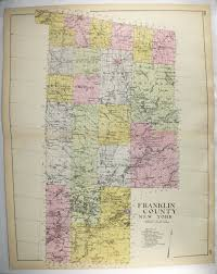 Malone Ny Map Franklin County Ny Map 1912 Large Vintage Map New York