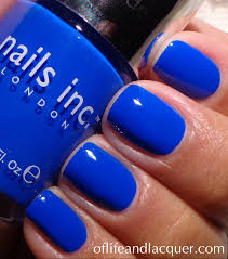 nails inc baker street such a striking cobalt nailed