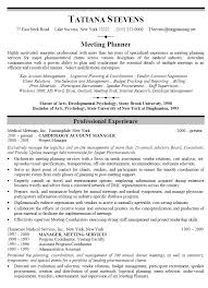 Events Manager Resume Sample Resume Template Free by Meeting Planner Resumes Agi Mapeadosencolombia Co