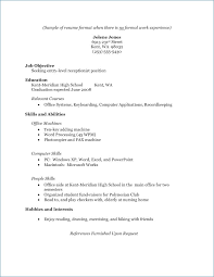 how to do a resume exles resume high school graduate no experience publicassets us