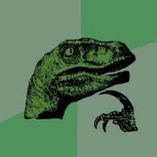 Thinking Dinosaur Meme Generator - philosoraptor meme generator