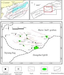 secondary migration of hydrocarbons in the zhujiang formation in