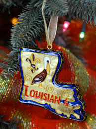 louisiana state cloisonne ornament decorated with a pelican and