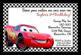 cards ideas with disney cars personalized birthday invitations hd