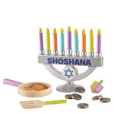 menorahs for kids personalized wooden chanukah set