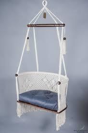 hanging chair in macrame in cream u2013 hangahammockcollective