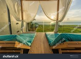 luxury spa framed curtains stock photo 320252552
