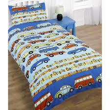 construction childrens boys duvet cover quilt bedding set blue