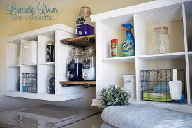 Laundry Room Shelves And Storage Laundry Room Make Transformation With Diy Shelving