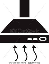 symbole cuisine capuchon icône extracteur symbole clipart