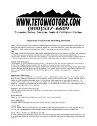 Dmv Power Of Attorney by Teton Motors Inc Is A Jackson Chevrolet Dealer And A New Car And