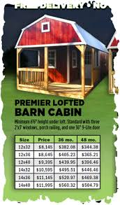 premier deluxe lofted barn cabin storage building