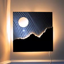 lighted pictures wall decor lighted modern metal wall art sculpture modern metal wall art