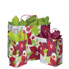 christmas paper bags poinsettia christmas bags box and wrap