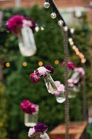 bud vase garland hanging bud vases for a ceremony backdrop photo by shannen
