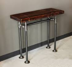 Rustic Hallway Table Black Iron Pipe Sofa Table Centerfieldbar Com