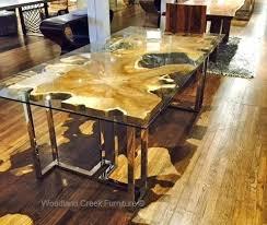 natural wood table top natural wood dining tables burl slab log table pertaining impressive