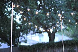 Patio String Lighting by How To Hang Backyard String Lights Backyard