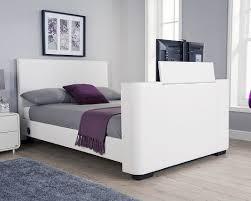 Kingsize Tv Bed Frame Nottingham White Kingsize Tv Bed Frame