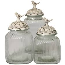 20 glass kitchen canister sets vintage blue willow china