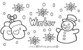 Winter Color Pages Tlink Me Winter Coloring Pages Free Printable