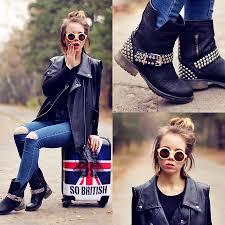cool biker boots wioletta mary kate bellevior vest steve madden biker boots