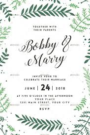 wedding invitations greenery greenery and floral wedding invitation trends for 2017
