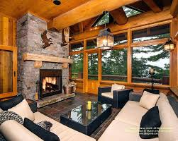 log home interiors images log home interiors log cabin interior waterfront screened porch room