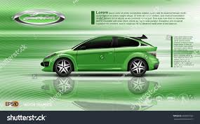 car ads in magazines digital vector green model sedan car stock vector 568953733