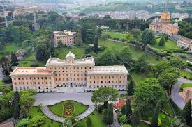 vatican gardens famous ornamental park area in rome italy stock