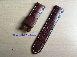 Jual Leather sold original panerai brown alligator for panerai luminor