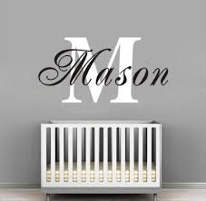Personalized Nursery Decor Baby Nursery Decor Personalized Name Baby Name Wall Decals For