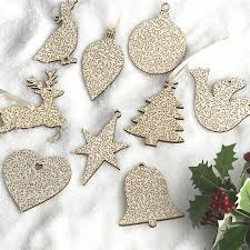 decorations cute christmas tree ornaments alongside patterned