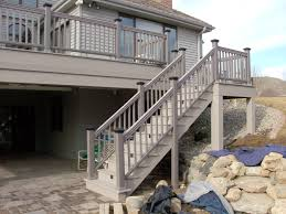 Deck Stairs Design Ideas Exterior Design Interesting Azek Decking For Deck Ideas