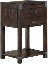 Rustic Pine Nightstand Hill Rustic Pine Wood Open Nightstand