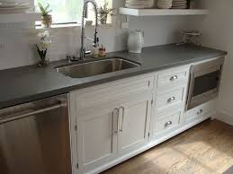 Kitchen Cabinets Inset Doors Shaker Style Cabinets And Concrete Gray Quartz Countertop