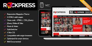 rockpress responsive magazine html5 bootstrap template template