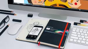 the adobe moleskine can beam your sketches to photoshop