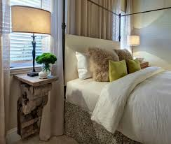 bedroom glamorous metal nightstand in bedroom transitional with